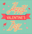 valentine love day cards design template vector image