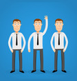 volunteer business man leader one crowd vector image