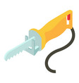 yellow electric saw icon isometric 3d style vector image vector image