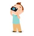 Boy with camera eps 10 vector image