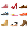 different fashion shoe boots models for shop site vector image