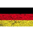 Flag of Germany with old texture vector image