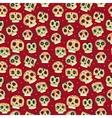 cartoon flat Dead day seamless pattern vector image