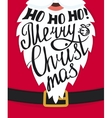 Ho-ho-ho Merry Christmas greeting card template vector image