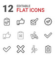 12 ok icons vector image vector image