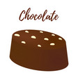 3d realistic chocolate candy cocoa product vector image vector image