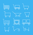 baskets of different shapes for web design vector image vector image