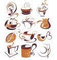 big set of coffeetea elements vector image vector image