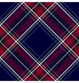 Blue red diagonal check tartan textile seamless vector image vector image