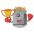 boxing winner deep fryer machine isolated on vector image vector image