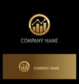 business finance progress round gold logo vector image