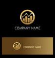 business finance progress round gold logo vector image vector image