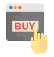 buy online flat icon vector image vector image