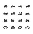 car icon set vector image
