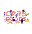 carb foods concept tasty and delicious diet to vector image vector image