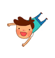 cartoon boy jumping vector image vector image