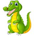 Cartoon cute crocodile vector image vector image
