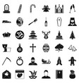 christianity icons set simple style vector image vector image