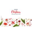 christmas flat lay vector image vector image