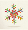 Christmas snow in colorful geometric art style vector image vector image