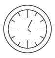 clock thin line icon time and dial watch sign vector image vector image