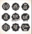 collections olive oil labels 4 vector image