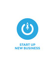 conceptual start up new business project take vector image vector image