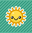 cute kawaii smiling sun cartoon icon vector image vector image