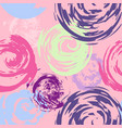 cute seamless pattern with grunge element vector image