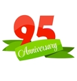 Cute Template 95 Years Anniversary Sign vector image