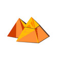egyptian pyramid from golden sand blocks tomb vector image vector image