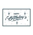 elegant happy birthday card vector image vector image