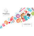 flat pregnancy colorful concept vector image vector image