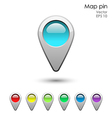 Glossy map pointer set vector image vector image