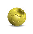 golden football ball gold soccer ball isolated on vector image