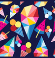 graphic pattern of different ice cream vector image vector image