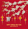 happy chinese new year background with creative vector image