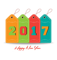Happy new year 2016 with tag colorful vector image vector image