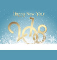 happy new year background with snow vector image vector image