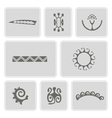 icons with Polynesian tattoo symbols vector image