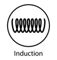 induction cooking spiral electrical sign vector image