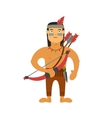 injun with weapons vector image vector image