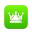 kievan rus crown icon green vector image vector image