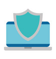 laptop computer with shield vector image vector image
