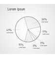 line pie chart vector image vector image