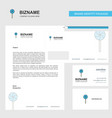 lollypop business letterhead envelope and vector image