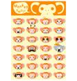 Monkey emoji icons vector image