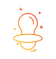 nipple icon design vector image vector image
