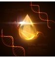 Oil essence droplet vector image