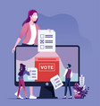 online voting concept vector image